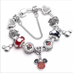 Jewelry - Brand New Minnie and Mickey Mouse Charm Bracelet